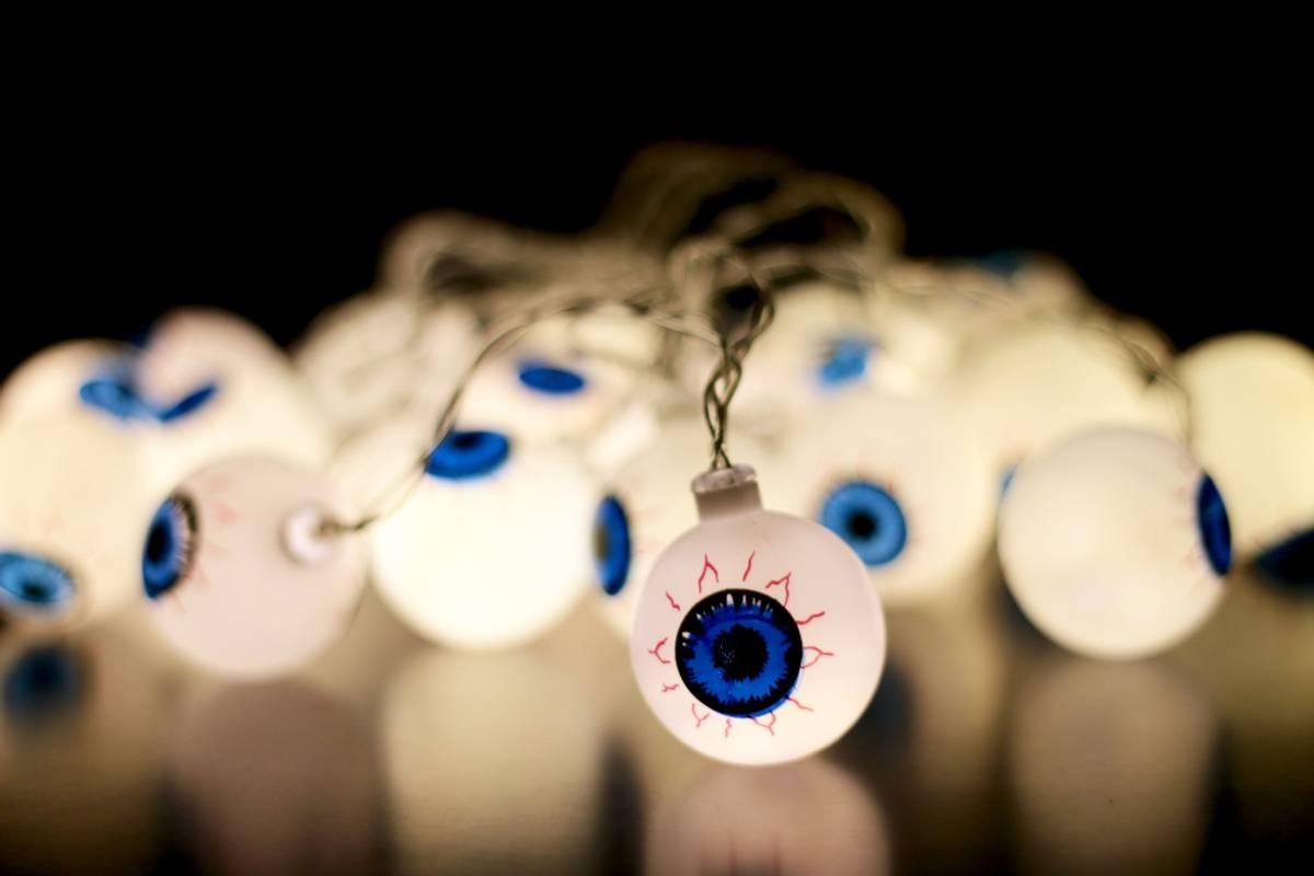 Lyslenke skumle øyne - 3 meter 20 pærer. Halloween