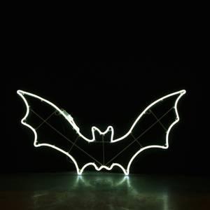 Bilde av Flaggermus 90x46 cm hvit neon. Halloween
