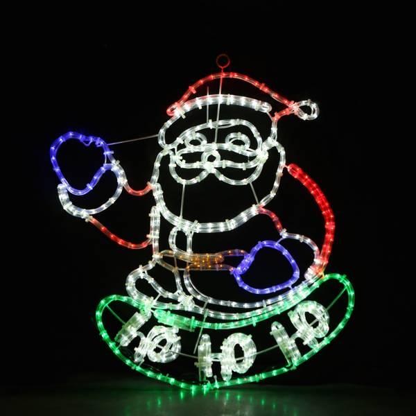 Bilde av Julenisse m/lysmønster på hohoho 75x70 cm