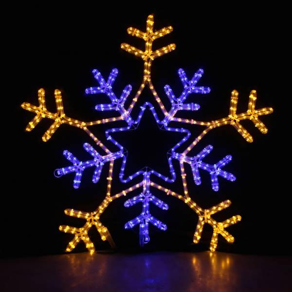 Bilde av Snøfnugg 90x90 cm med 7 ulike program. Varmhvit og blå