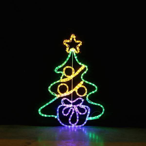 Bilde av Juletre med julegave 75x53 cm