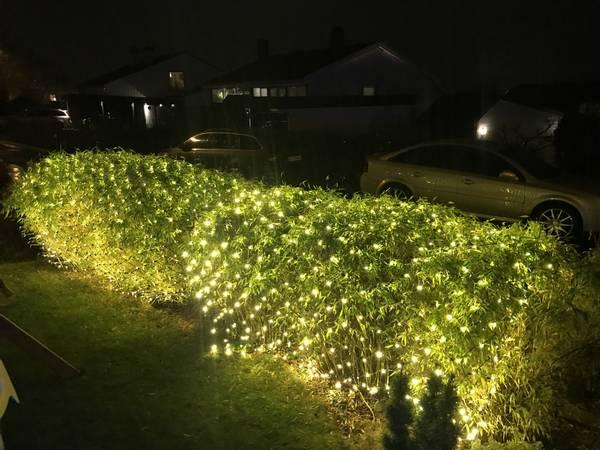 Bilde av 3X4M Lysnett IP44 m/gummikabel og 864 LED-pærer