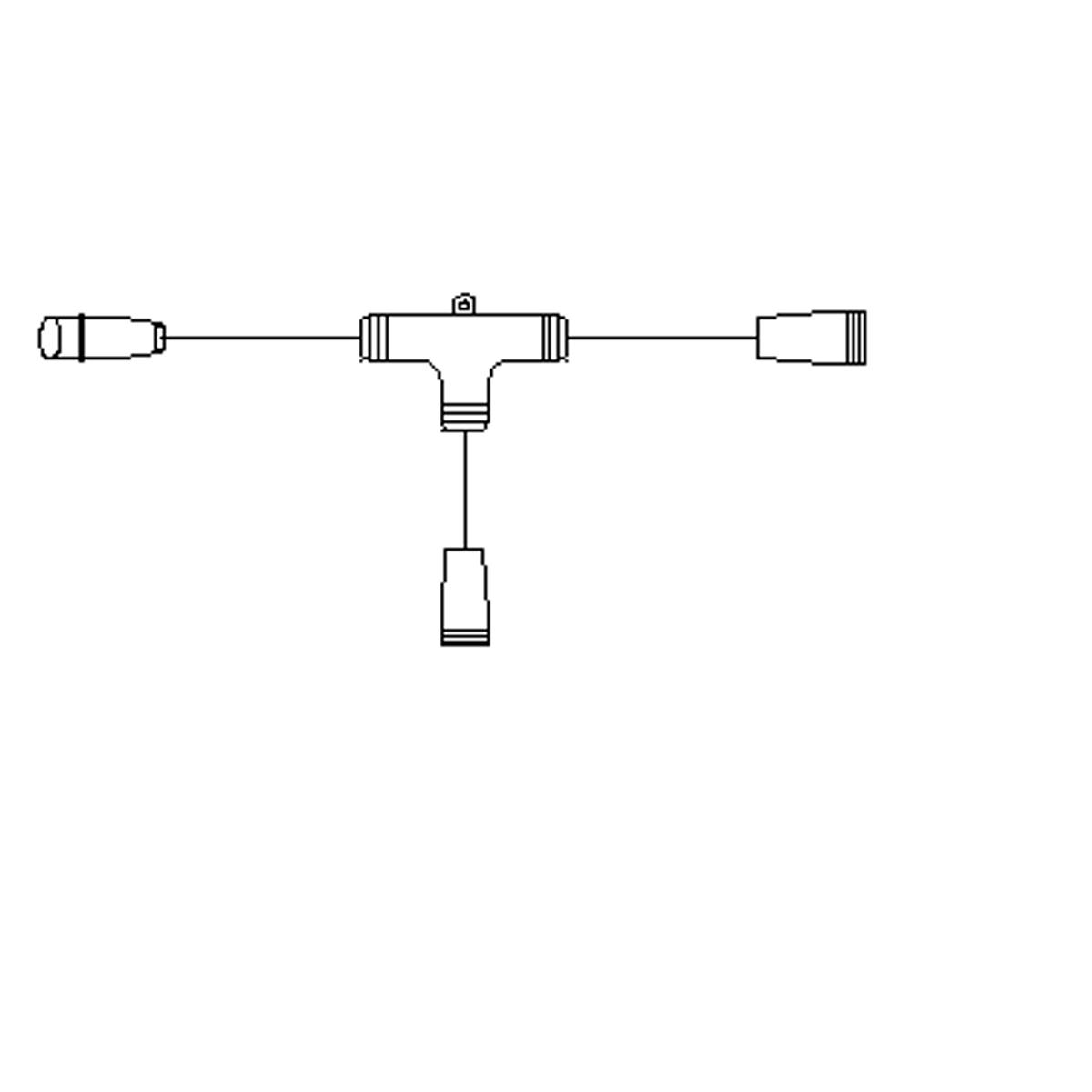 T-kobling til julelys, snøkrystaller og LED-figurer