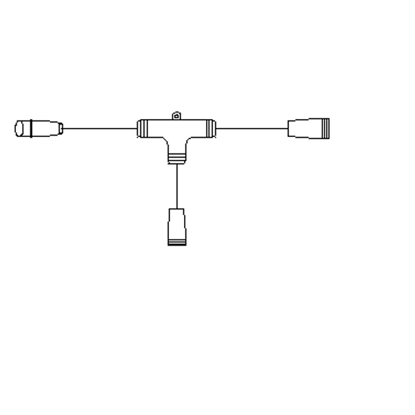 Bilde av T-kobling til julelys, snøkrystaller og LED-figurer
