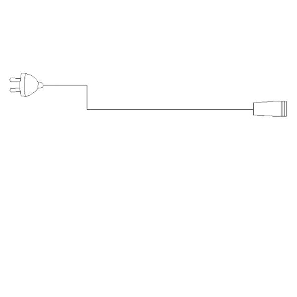 Bilde av Strømledning til julelys 1,5 meter