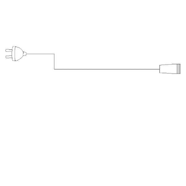 Bilde av Strømledning til julebelysning 5 meter