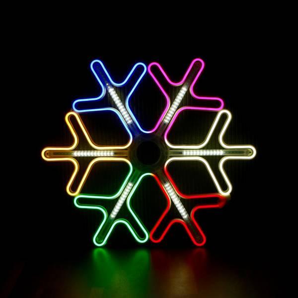 Bilde av Snøfnugg neon 60x60 cm flerfarget