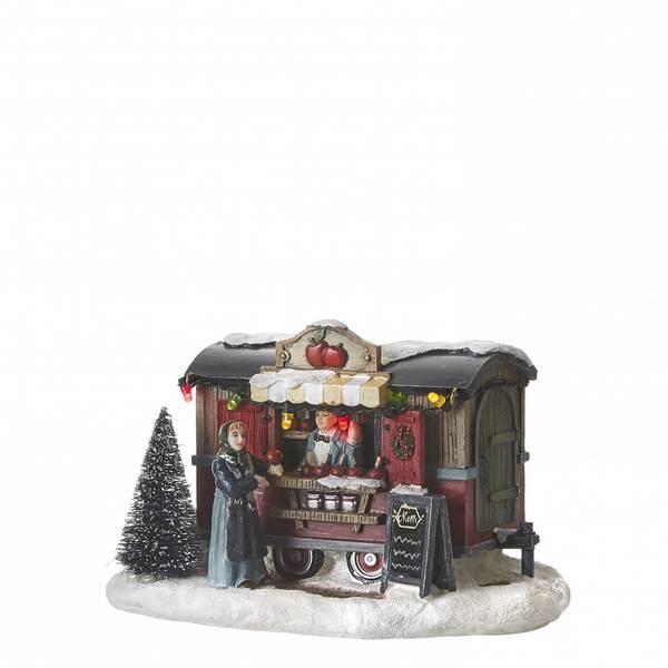 Bilde av Julemarked eplebod - juleby Luville