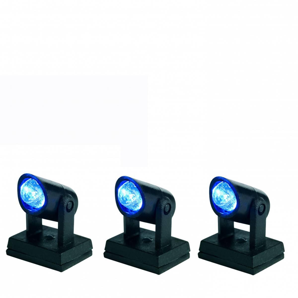 Spotlight - lyskastere til juleby. Blå
