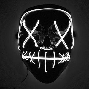 Bilde av LED-maske Halloween hvit