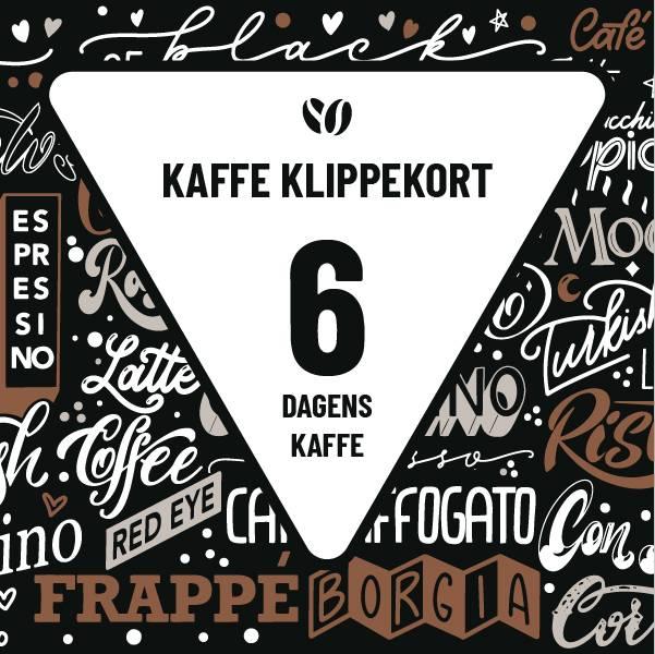 Klippekort 6 kaffe