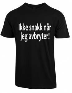 Bilde av Ikke snakk når jeg avbryter, t-skjorte