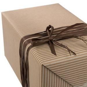 Bilde av Gavepapir kvistpapir brun striper 38cm x 150m