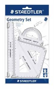 Bilde av Geometrisett 4 deler transparent