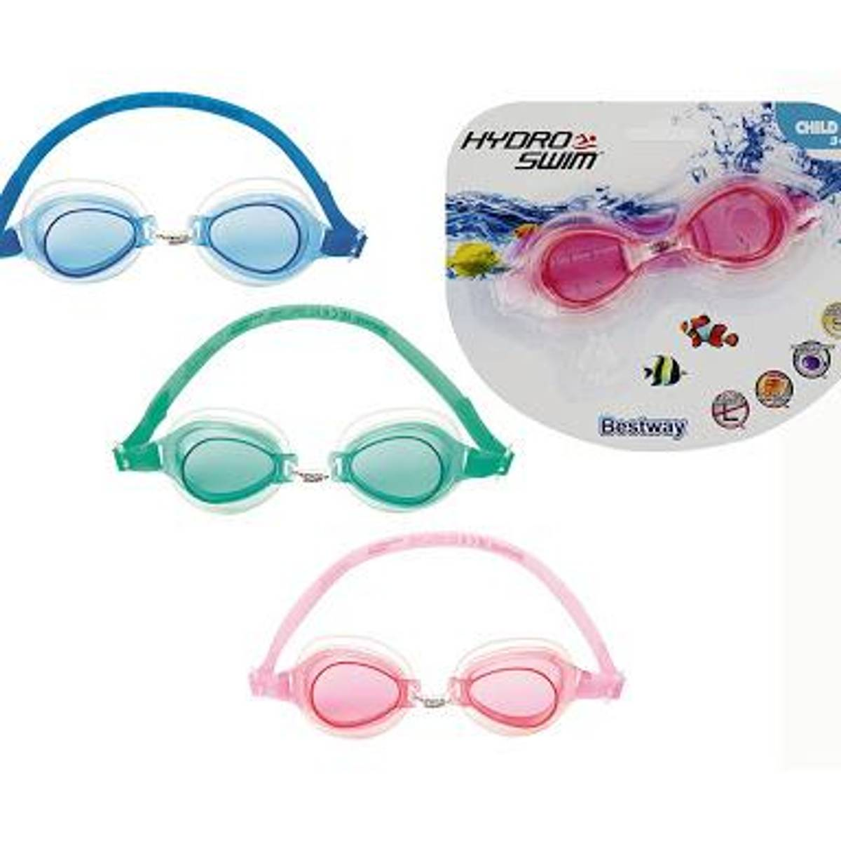 Rosa Hydro swim youth 3 svømmebriller