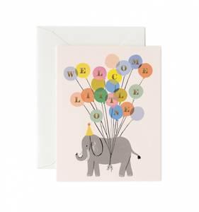 Bilde av Welcome Elephant baby kort Rifle Paper Co