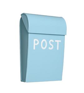 Bilde av Bruka Postkasse mini mint/hvit