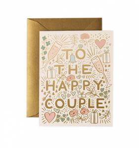 Bilde av To the Happy Couple kort Rifle Paper Co