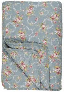 Bilde av Ib Laursen Quilt lyseblå med blomster