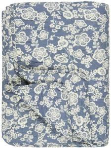 Bilde av Ib Laursen Quilt Blå med blomster i krem