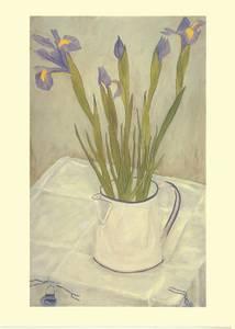 Bilde av Irises in a white Jug kort - Two Bad Mice