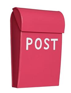 Bilde av Bruka Postkasse mini skarp rosa/hvit
