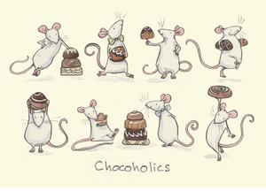 Bilde av Chocoholics kort - Two Bad Mice