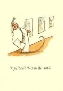 Bilde av I`ll just`snail this to the wall kort - Two Bad