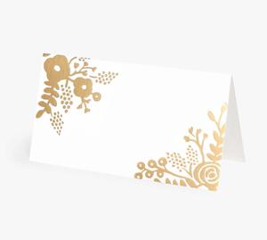 Bilde av Rifle Paper Co Gold Lace bordkort