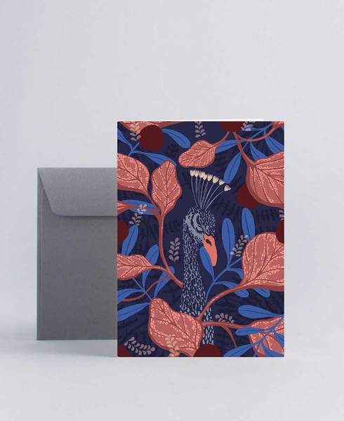 Mini Empire Hiding Peacock kort