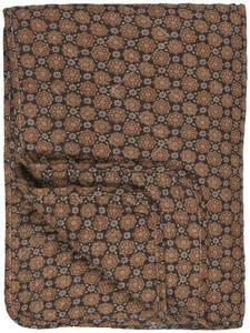 Bilde av Ib Laursen Quilt svart m/blomstermønster i