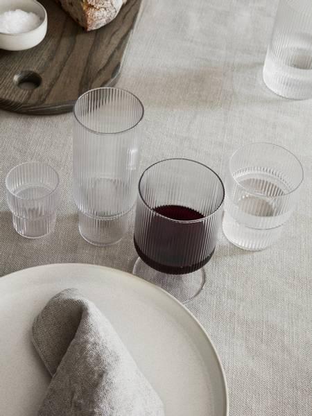 ferm LIVING Ripple Rødvin 2pk