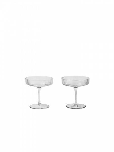 ferm LIVING Ripple Champagneskål 2pk