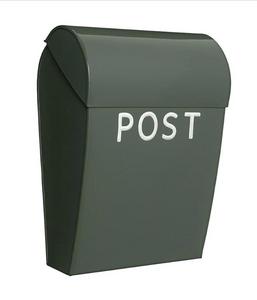 Bilde av Bruka Postkasse oliven/hvit stor