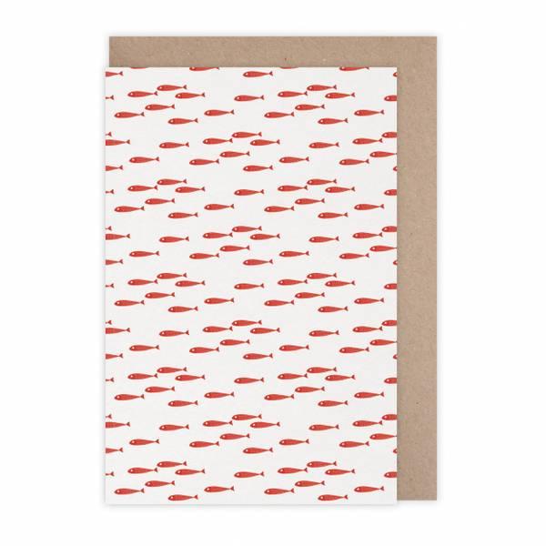 Monsieur Papier Kort Poissons rouges