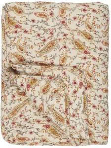 Bilde av Ib Laursen Quilt gul paisley på hvit bunn
