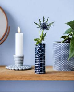 Bilde av Dottir Pipanella Lines Micro petrol blue vase