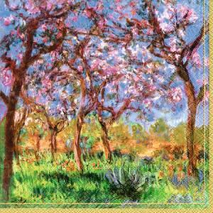 Bilde av Ihr servietter Monet Printemps a Giverny