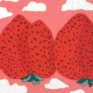 Bilde av Ihr kaffeservietter Marimekko Mansikkavuoret