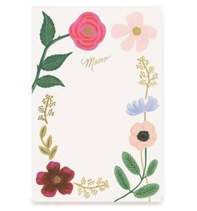 Bilde av Wildflowers memo pad Rifle Paper Co