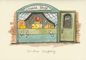 Bilde av Window Shopping kort - Two Bad Mice