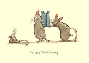 Bilde av Happy Birthday kort - Two Bad Mice