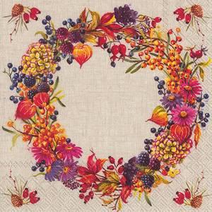 Bilde av Ihr servietter Autumn Wreath
