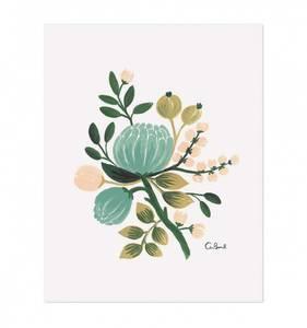 Bilde av Blue Botanical print A4 Rifle Paper Co