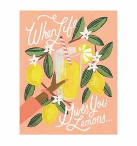 Bilde av Lemons to Lemonade Print A4 Rifle Paper Co