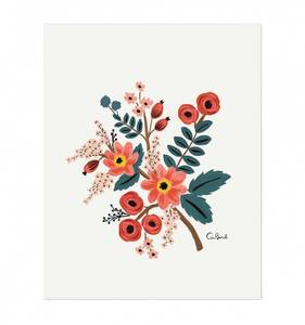 Bilde av Coral botanical print A4 Rifle Paper Co