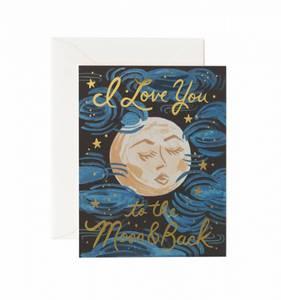 Bilde av To the moon and back kort Rifle Paper Co