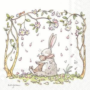 Bilde av Ihr servietter Blossoms and bunnies
