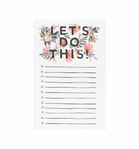 Bilde av Let ́s do This Notepad Rifle Paper Co