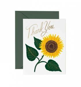 Bilde av Sunflower Thank You kort Rifle Paper Co